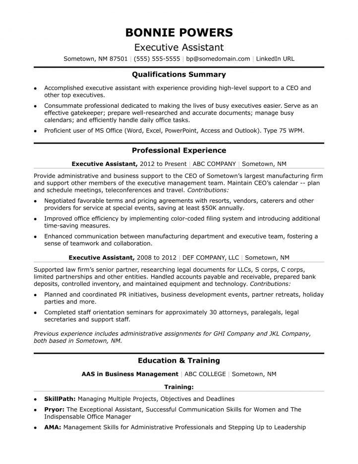 Executive Assistant Resume Check more at   cleverhippoorg - executive assistant resumes