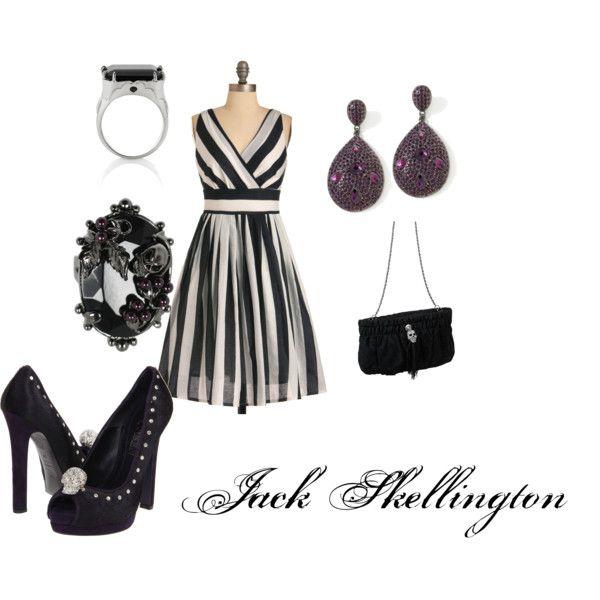 Jack Skellington (Nighttime Dressed Up) Look, created by srk8078.polyvore.com