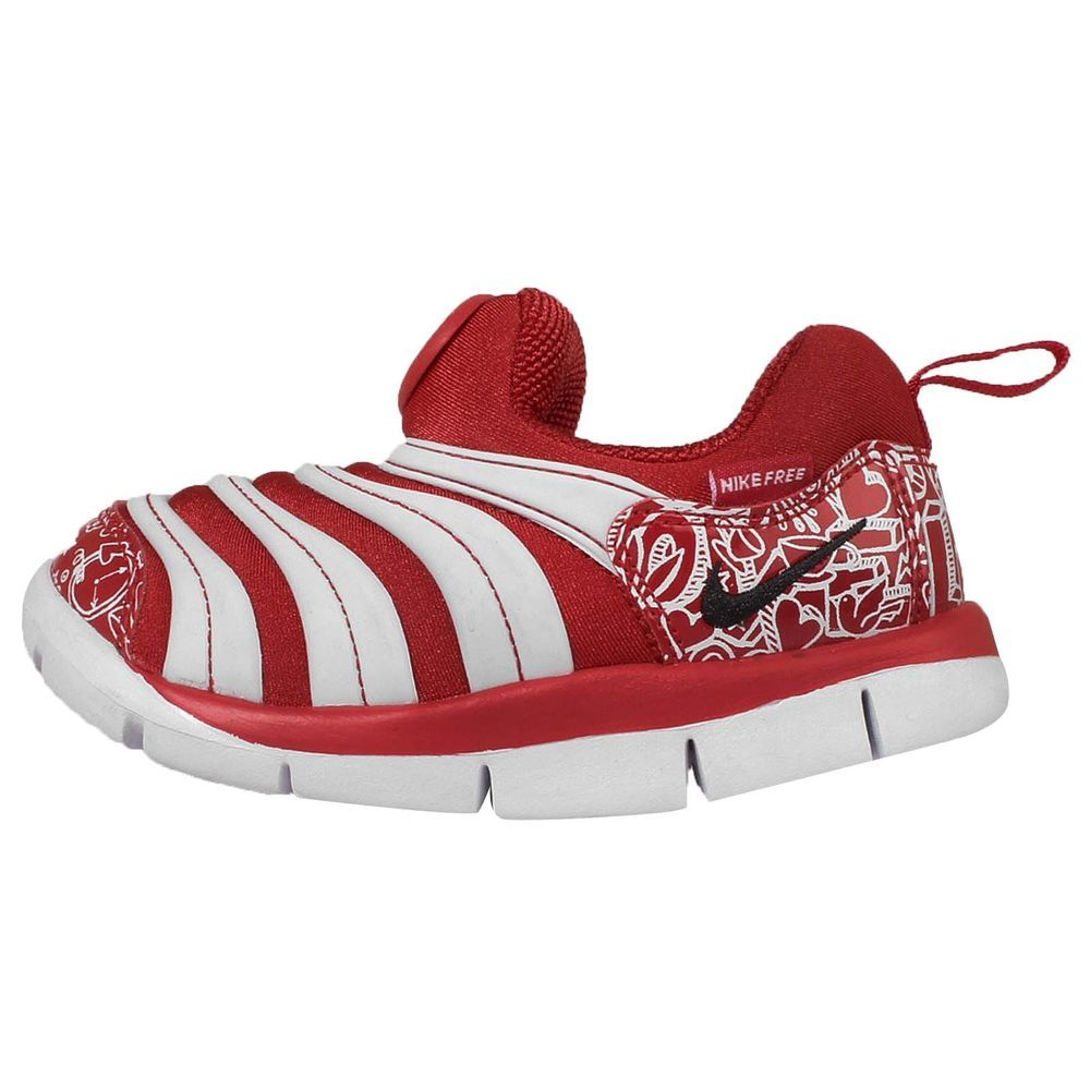 Nike Dynamo Free TD White Red Toddler Baby Running Shoes Sneakers 343938-616