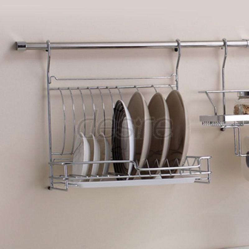 Stainless Steel Dish Rack Kitchen Foldable Storage Trays with Hanging Rod And 5 Hooks & Cheap rack effect Buy Quality rack directly from China rack ski ...