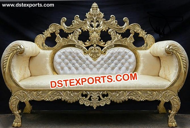 Royal Wedding Designer Carved Crown Sofa Dstexports