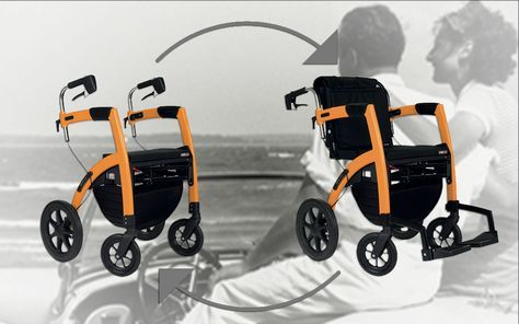 The New Rollz Motion 2 Rollator Walker And Transport