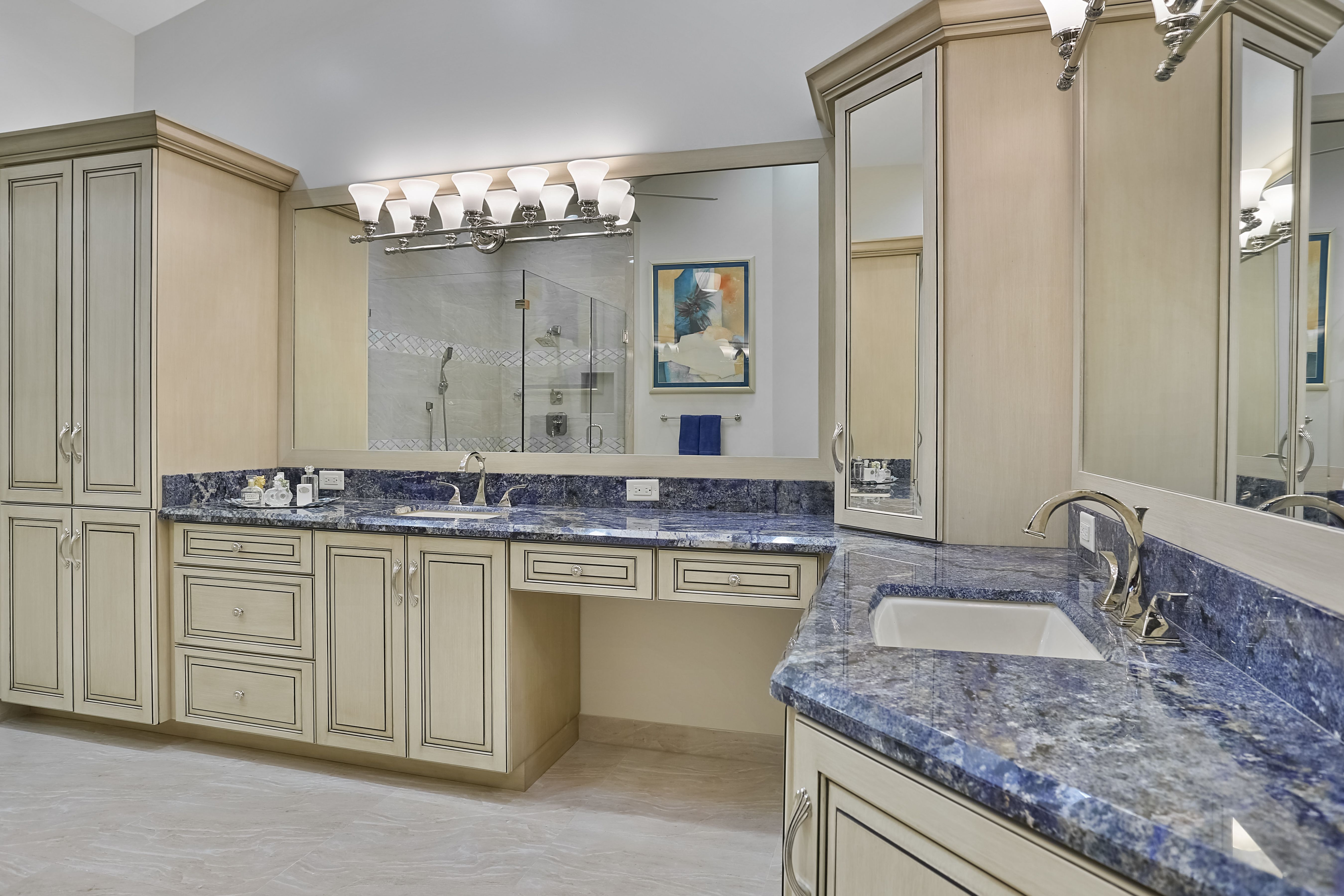 A new bathroom at the Polo Club in Boca Raton Redesign by Interior