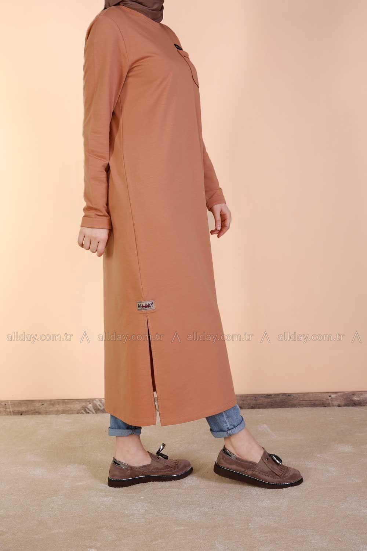 Allday Taba Penye Elbise P2202 Modelini Incelemek Icin Lutfen Sayfamizi Ziyaret Ediniz Kadin Kiyafetleri Hijab Chic Islami Moda