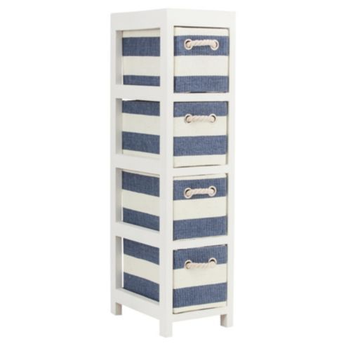 28- Buy Nautical Canvas 4 Drawer Storage Unit from our Storage Units range  -