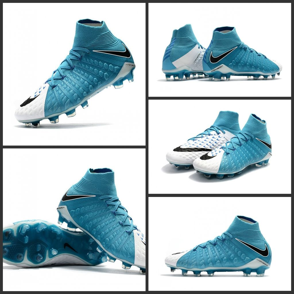 vendita ufficiale buono sconto nuovi arrivi Nuove Scarpe Nike Hypervenom Phantom 3 DF FG Bianco Nero Blu ...