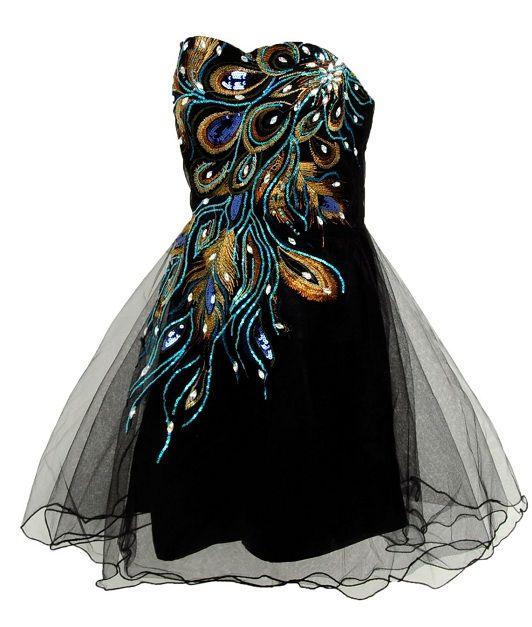 Peacock Dress Corset Tutu Black Cheap Peacock Prom Dresses Under