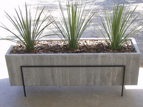 Large Wood Grain Concrete Planter Diy Concrete Planters