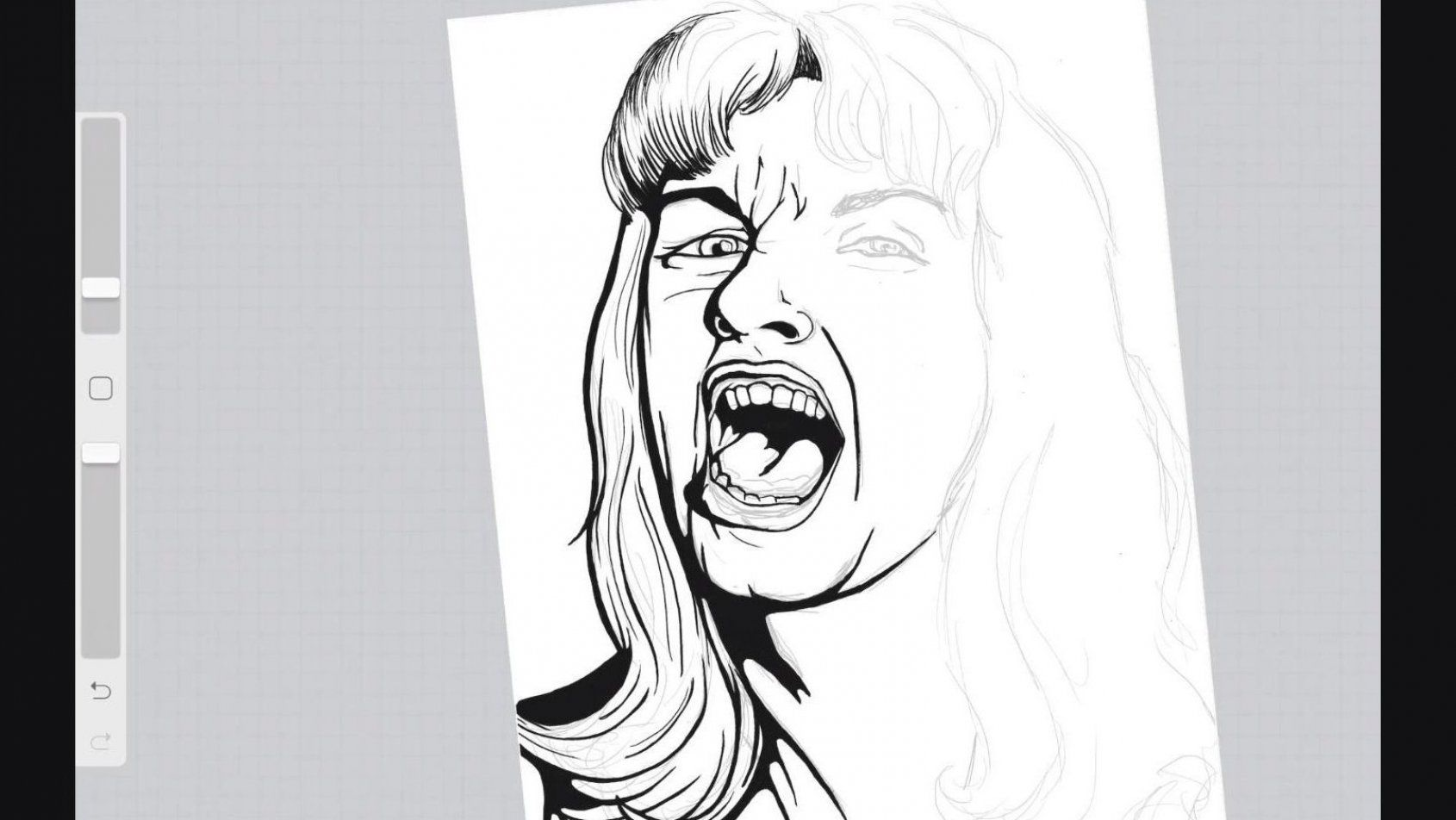 Process video of the line work and outline being done  Original illustration artwork in progress  Character art inspired by the series Twin Peaks  All Rights Reserved   AD Designs  Check out the link and follow me for more artwork  #addesigns #illustration #digitalart #digitalillustration #drawing #illustrationartists #linework #outline #ink #characterart #portrait #scream #lipstick #bangs #processvideo #artinprogress #popart #popculture #twinpeaks #homecoming #laurapalmer #culture #tvshows