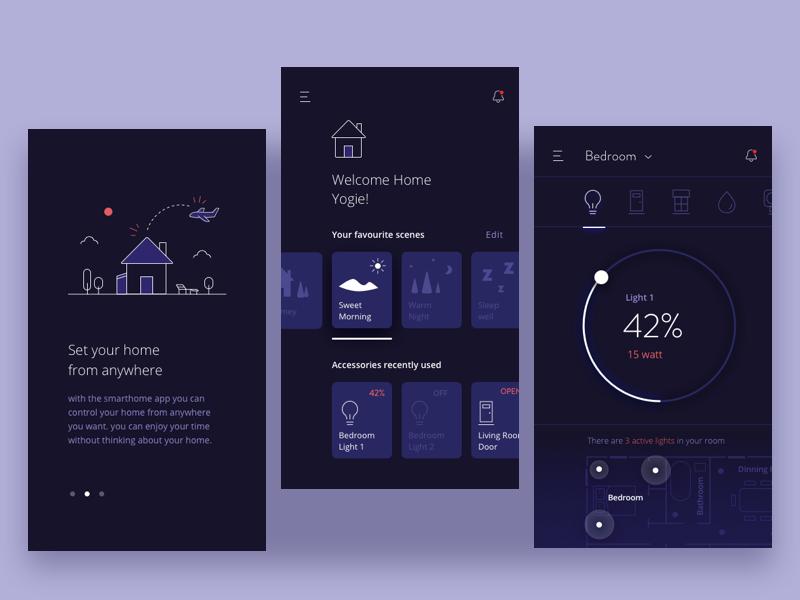 30 inspiring examples of smart home app muzli design - Design your home app ...