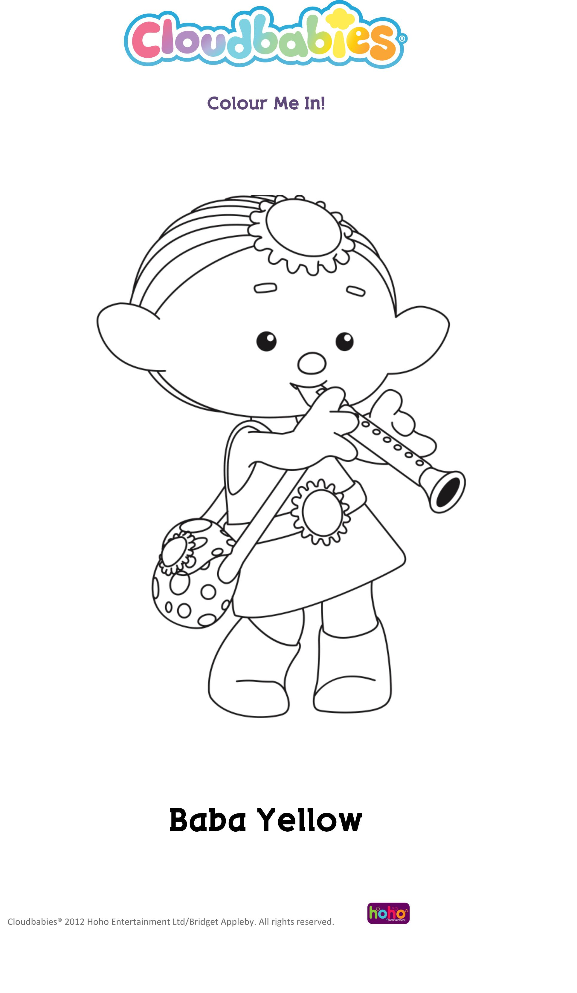 Baba Yellow | Cloudbabies coloring book | Pinterest | Coloring books