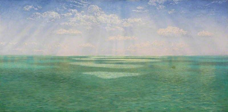 BBC - Your Paintings - John Brett -The British Channel Seen from the Dorsetshire Cliffs