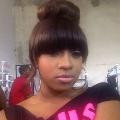 bun and bang hair styles beauty