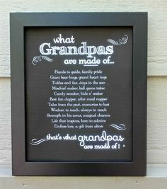 Grandpa Frame: Grandpas Made of Poem #grandpagifts