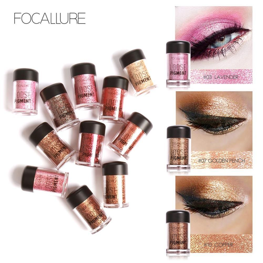 FOCALLURE New Arrival Glitter Eyeshadow Metallic Loose