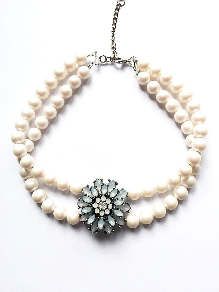 Kropfkette *Bergblume* made with Swarovski® Pearls