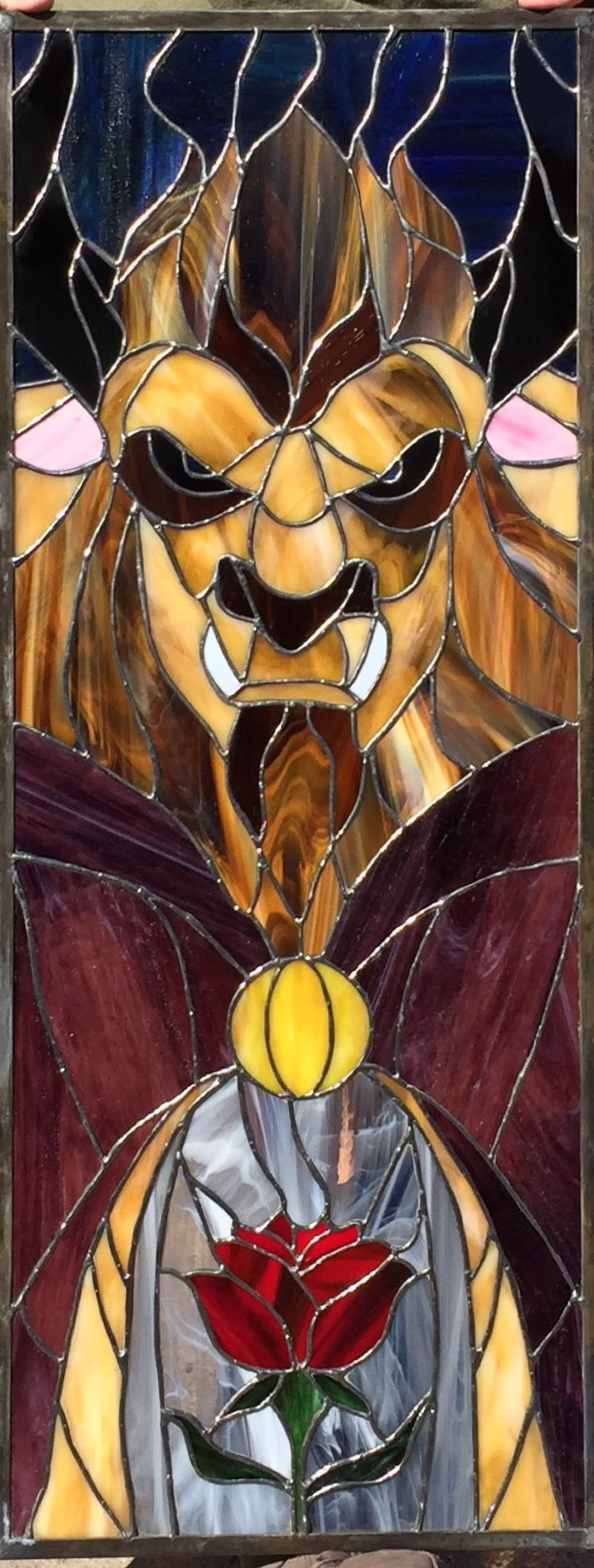 Beauty and the Beast. My stained glass art   Stained glass ...
