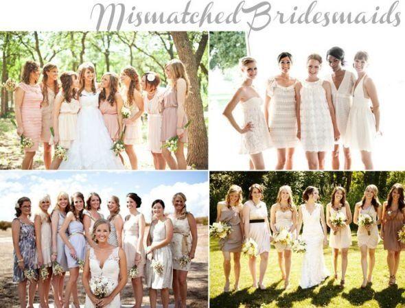 Mismatch bridesmaids dresses!