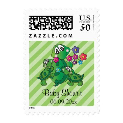 Cute Cartoon Turtle Baby Shower Theme Postage - pattern sample - Sample Address Book Template