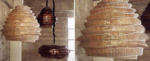 Roost Lighting Thai Fokal Bamboo Cloud Chandelier From