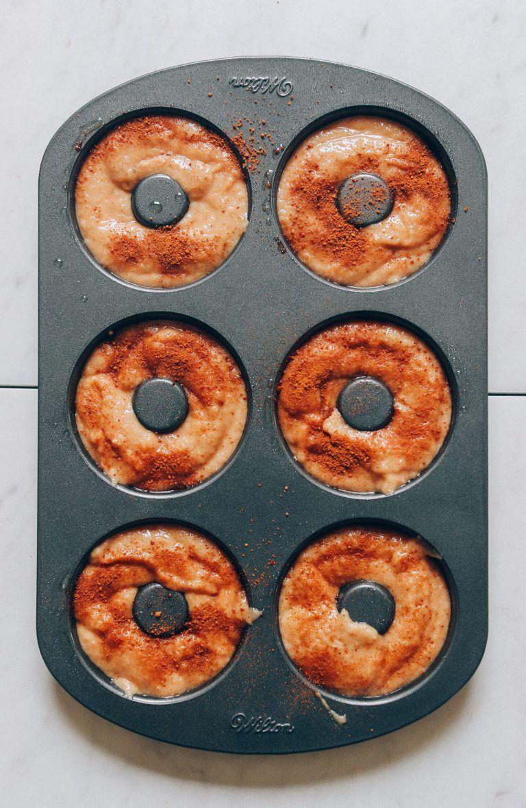 Vegan Gluten Free Apple Cider Baked Donuts Receta Comida Veganos Y Postres