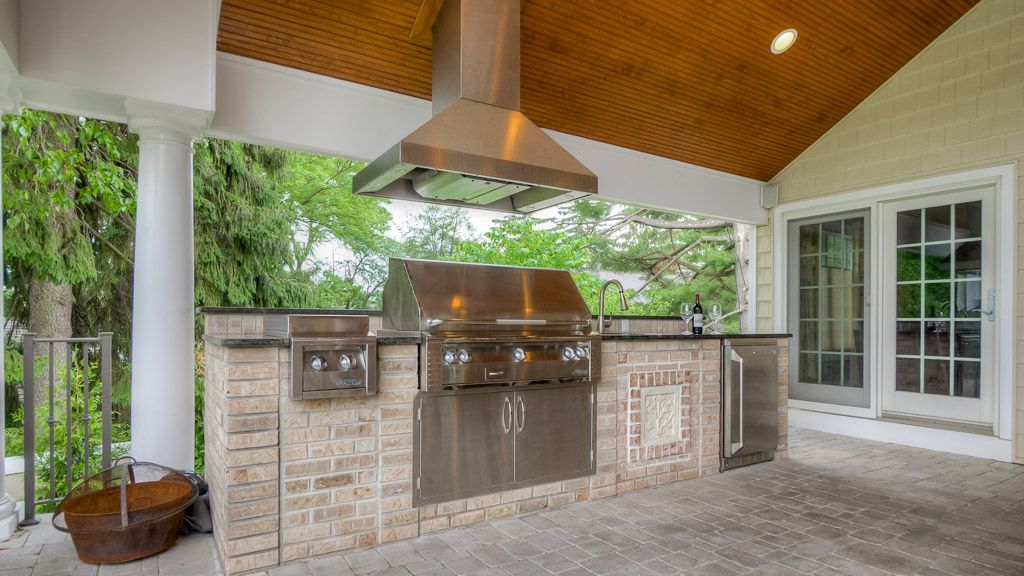 Sponzilli Outdoor Kitchen With Grill And Hood Range Outdoor Kitchen Grill Outdoor Kitchen Outdoor Kitchen Design