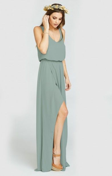 bd6faf7ff4783 Kendall Maxi Dress ~ Silver Sage Crisp | Wedding Ideas I Will One ...