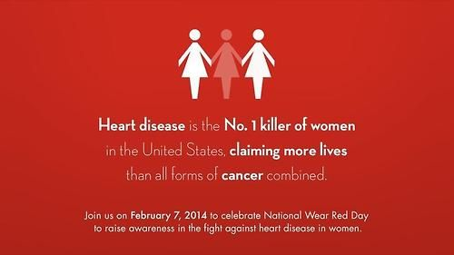 """Heart disease has been called the Silent Killer because it often has no noticeable symptoms. It's more deadly than all forms of cancer combined. And it's not just """"an old man's disease."""" Will you #GoRED tomorrow?"""