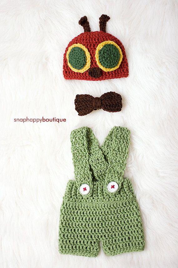 Very Hungry Caterpillar Baby Prop Set, suspenders, newborn, 3-6 ...