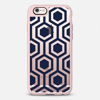Navy Honeycomb iPhone Case Katie Kime X Casetify