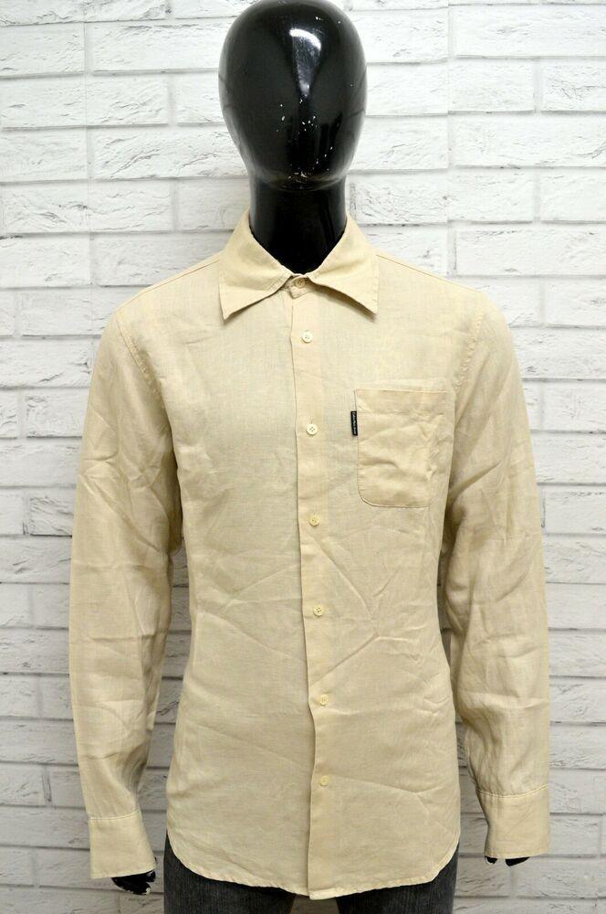 finest selection 3bb10 7a03a Camicia Uomo CALVIN KLEIN Taglia XL Maglia Shirt Man Lino ...
