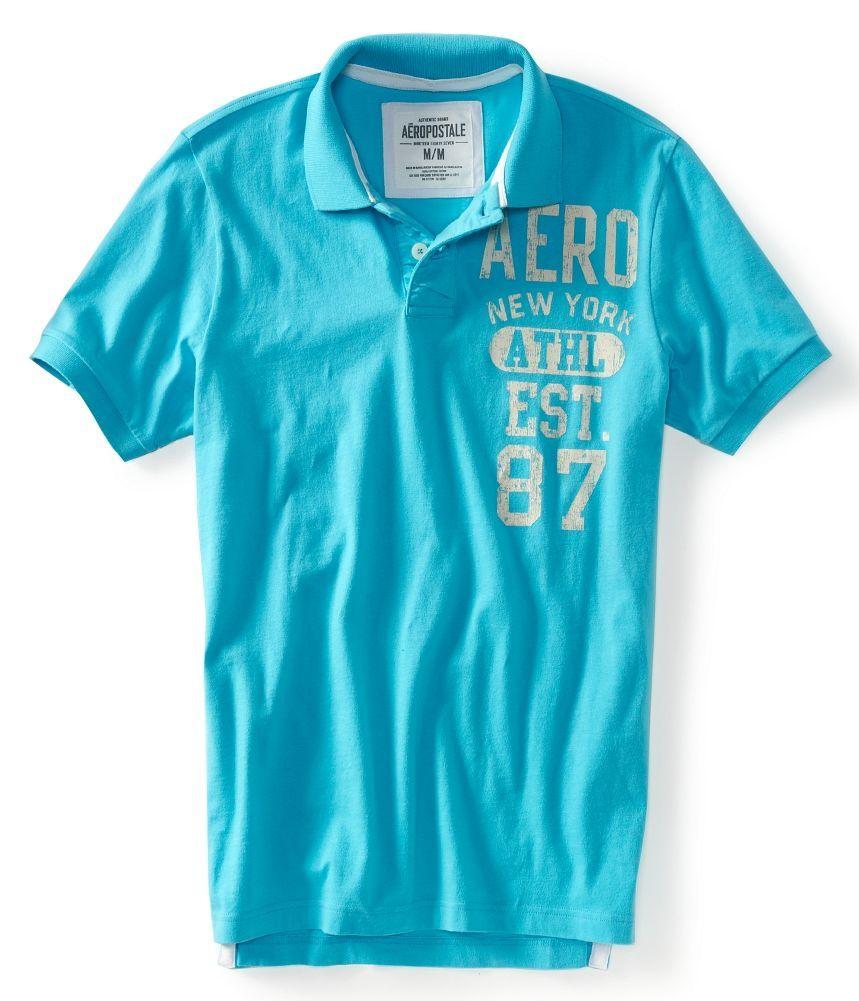 Aeropostale Polo Shirts | Aeropostale mens Aero New York mens polo shirt  Style 2242