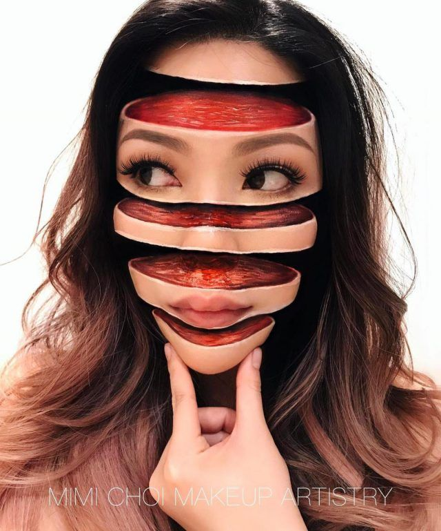 Diseños de maquillaje de terror por Mimi Choi, para Halloween serían