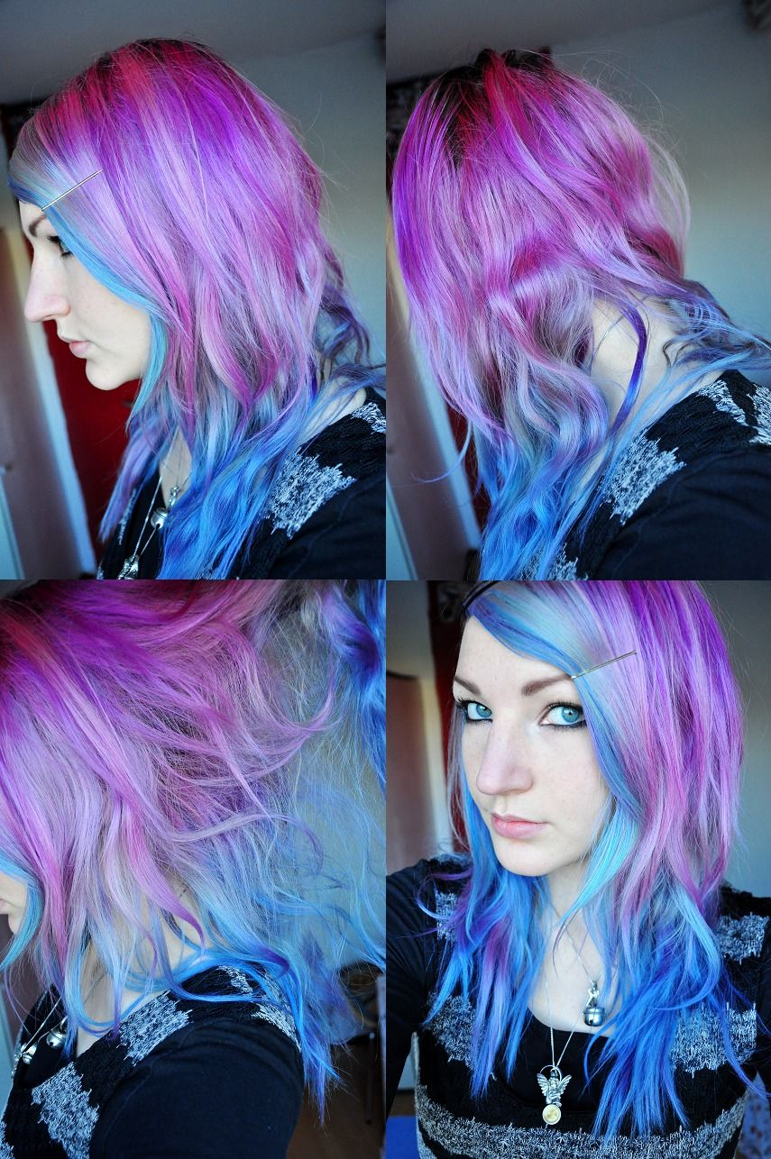 Purple Blue Fading Hair Hairr 3 Pinterest Ion Hair Colors