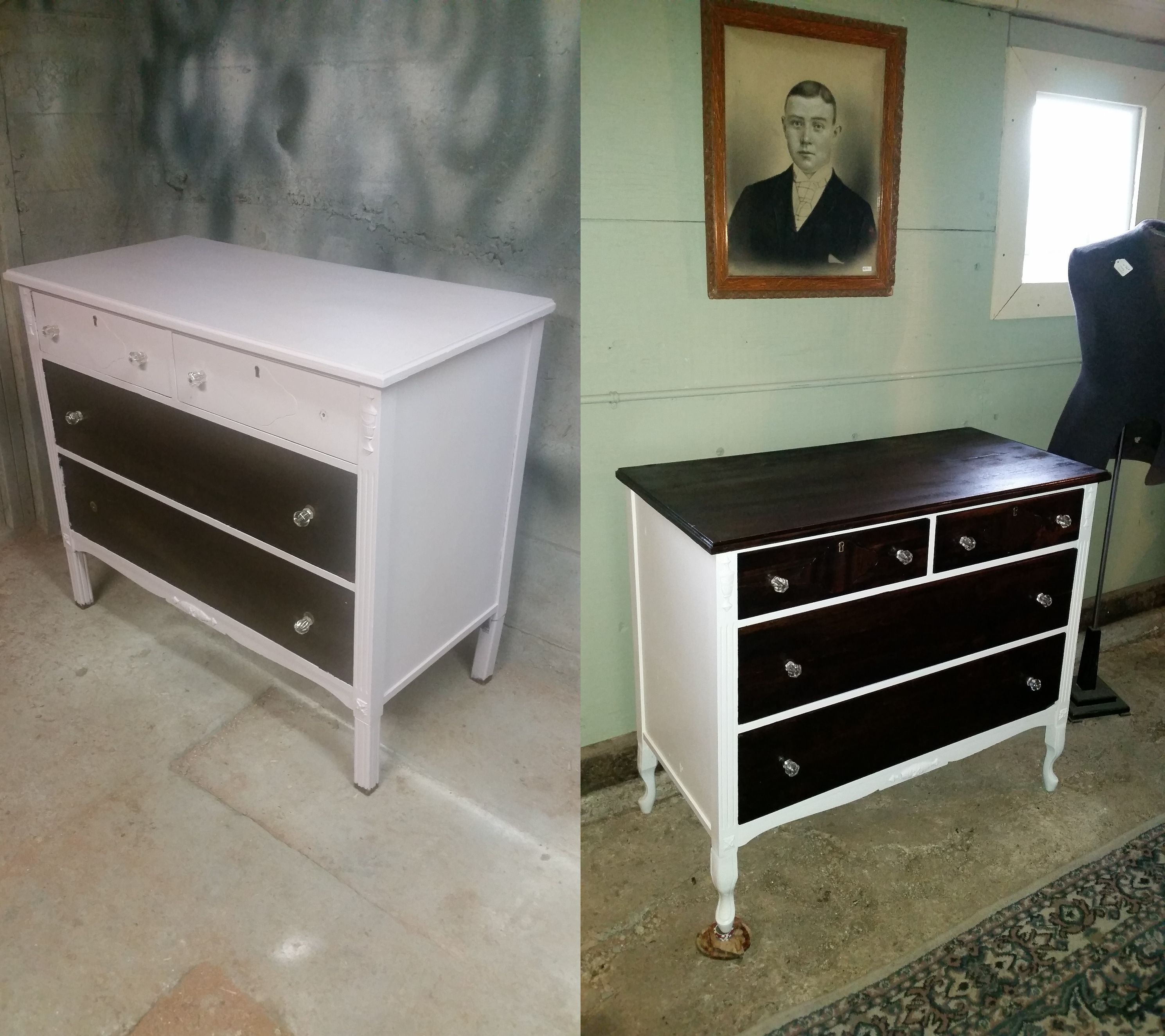 Refinished Antique Dresser That Had Been Previously Shabby Chic Already