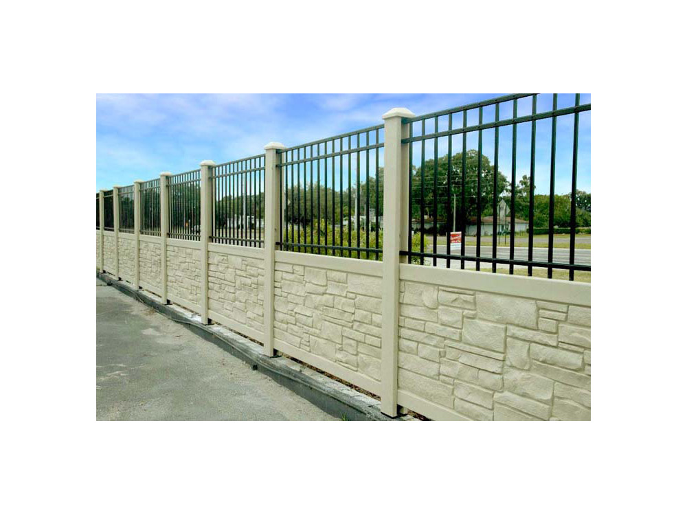 Bufftech Allegheny Vinyl Fence Sections Vinyl Fence Granite Colors Fence Sections