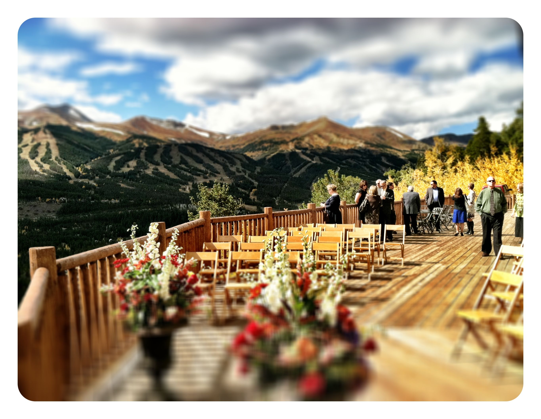 outside wedding at the lodge and spa in breckenridge colorado