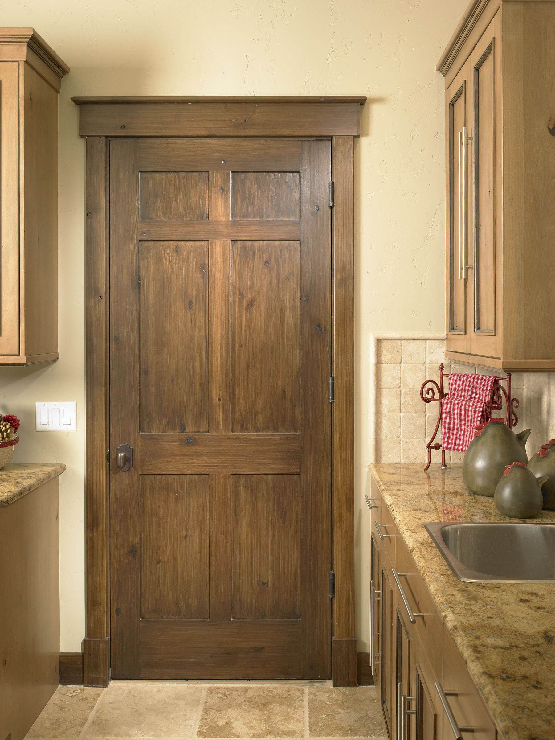 White interior doors with oak trim - Wood Color Rustic Craftsman Traditional Interior Doors Denver Sun Mountain Inc