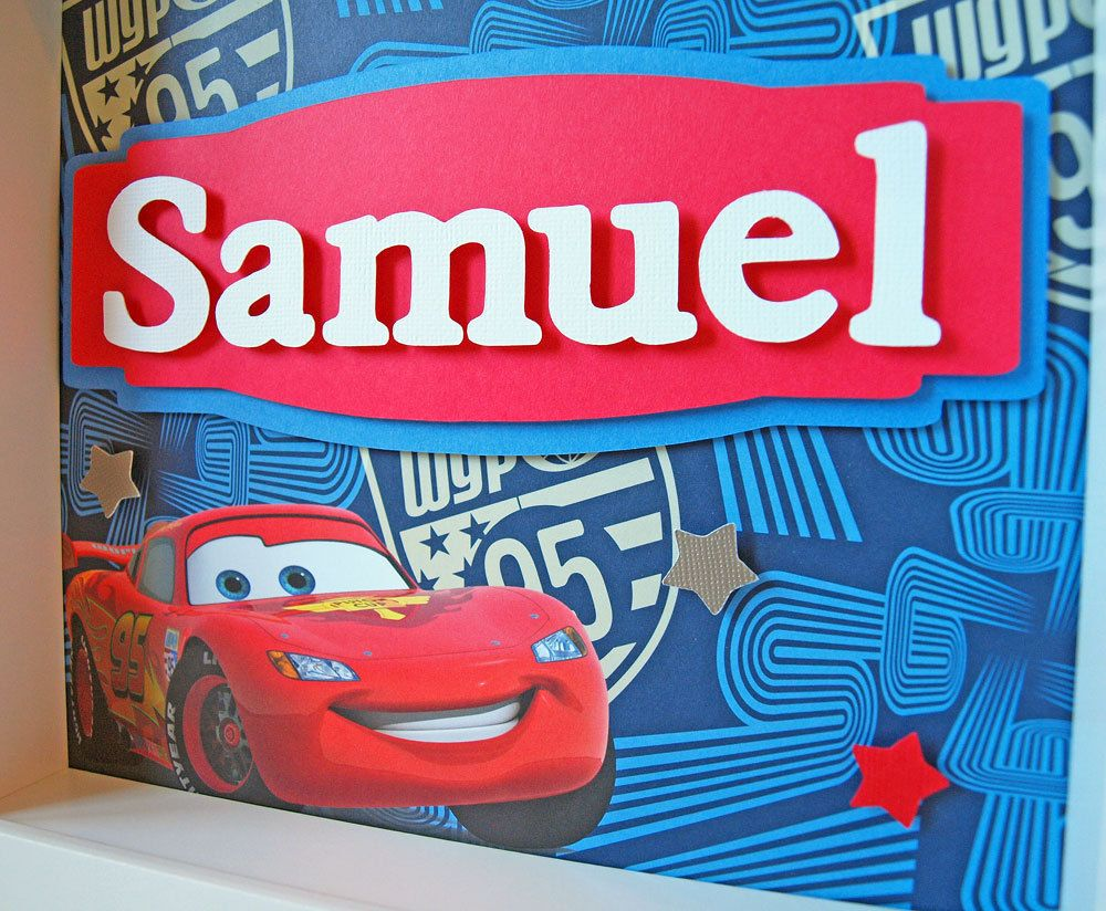 Disney Cars - Personalized Children\'s Decor - Boy\'s Room Art ...