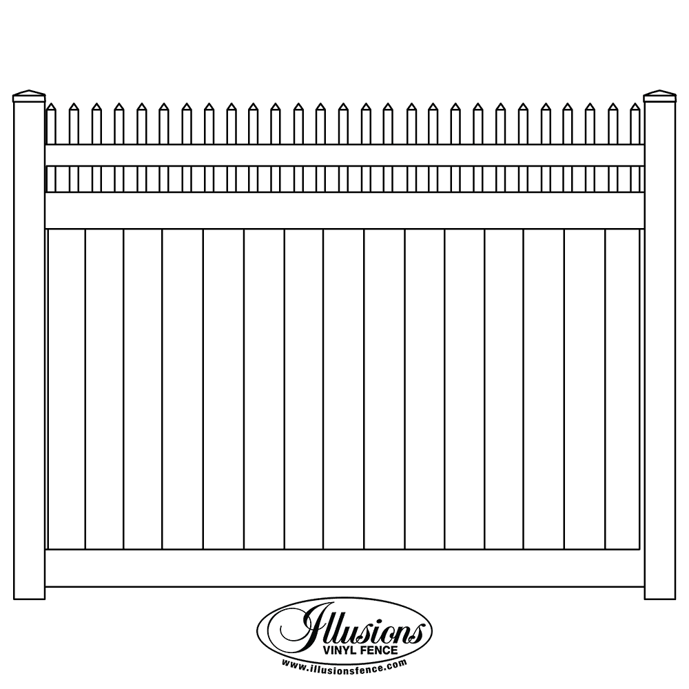 Privacy Fences Illusions Fence In 2020 With Images Privacy Fences Fence Design Vinyl Fence Panels