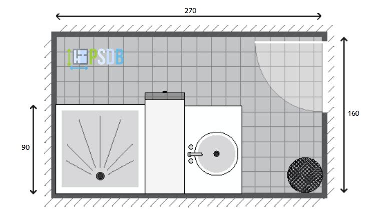 Exemple De Plan De Salle De Bain De 4 3m2 Petite Salle De Bain