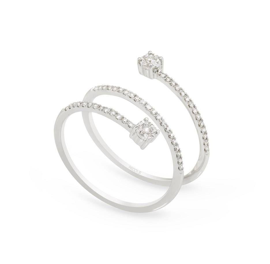33f604d452a2 Anillo de Diamantes SPIRAL RINGS NICOL´S. Anillo en forma de espiral de tres  vueltas