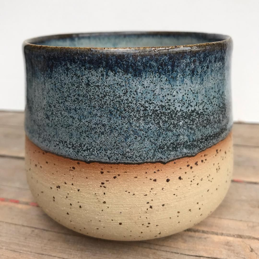 Amaco potter's choice toasted sage over blue midnight. #pottery #potterylife #pottersofinstagram #poterie #potterylove #clay #ceramics… #potteryglazes