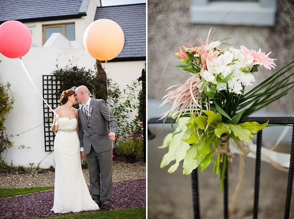 A Coral & Lilac Rustic Wedding In Ireland With A Vera Wang