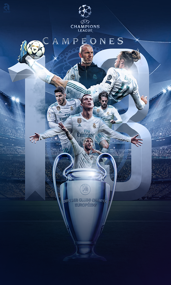 UEFA Champions League 2018 Winners, Real Madrid on Behance