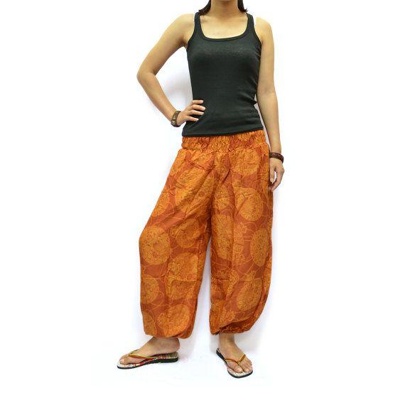 Harem Pants Baggy Pants Aladdin Pants Yoga Pants by AsianChicShop, $15.99