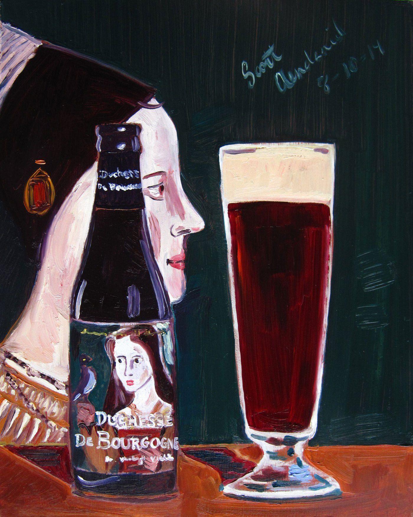 Beer Painting of Duchesse de Bourgogne by Brouwerij Verhaeghe. Year of Beer Paintings - Day 222.