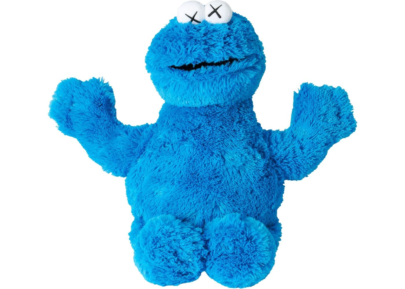 c426ddea Check out the Kaws Sesame Street Uniqlo Cookie Monster Plush Toy Blue  available on StockX