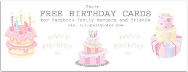 Free Birthday Cards For Facebook allgreatquotescom Birthday
