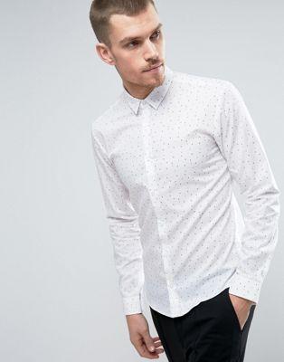 9a0f8d71c HUGO by Hugo Boss Ero 3 Shirt Number Print Slim Fit in White ...